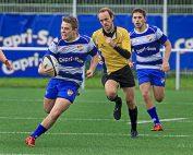 Jonas Malaizier im Angriff für den HRK in der Rugby-Bundesliga