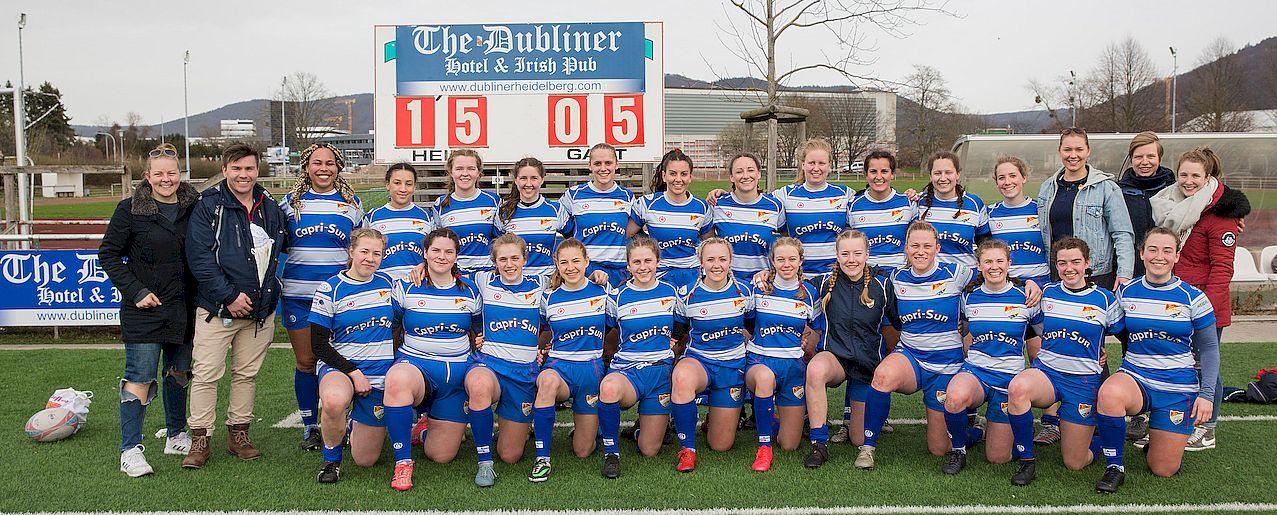 Die HRK Frauen Mannschaft beim Testspiel gegen die Schweizer Nationalmannschaft