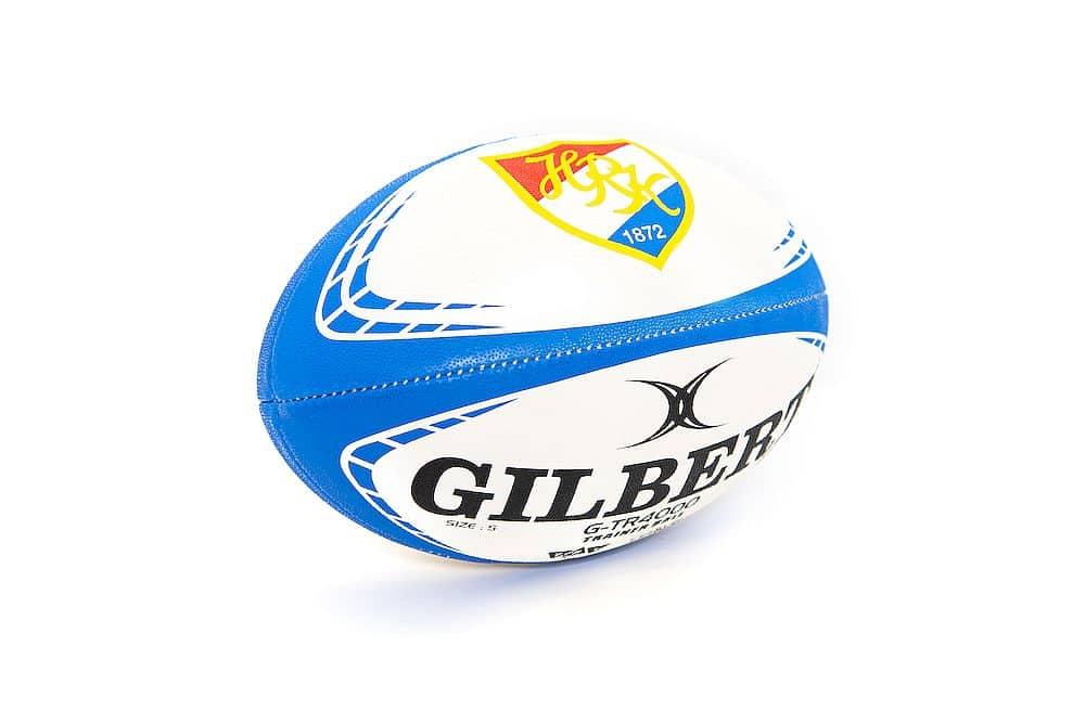 Der Rugbyball der Marke Gilbert mit HRK-Logo in Größe 5