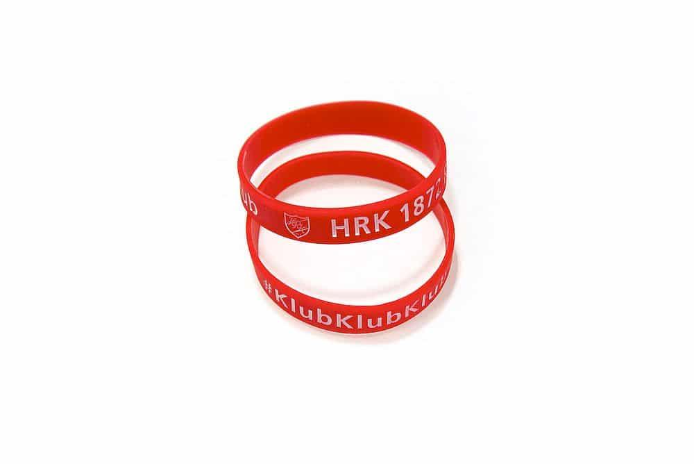 HRK Fanarmbänder aus Silikon in versch. Größen